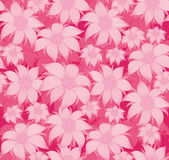 Seamless floral pattern. On a pink background, the flowers are edelweiss, water lily, lotus. For postcard, invitations, textiles. Royalty Free Stock Photos