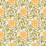 Seamless Floral Pattern Pink and Green Stock Photos
