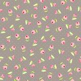 Seamless floral pattern with pink roses Royalty Free Stock Image