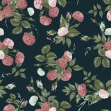 Seamless floral pattern with pink and white roses Royalty Free Stock Photo