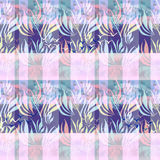 Seamless floral pattern with plants silhouettes of palms  Stock Photography