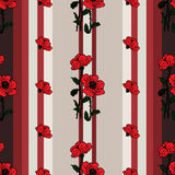 Seamless floral pattern with poppies Royalty Free Stock Photography