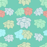 Seamless floral pattern. Pattern for printing on fabric or paper. Islam, Arabic, Indian, ottoman motifs. Petals and flowers in geometric style. Hand drawn Stock Photo