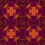 Seamless floral pattern in purple Royalty Free Stock Photography