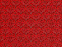 Seamless floral pattern on a red background Stock Photography