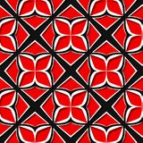 Seamless floral pattern. Red and black 3d designs. Vector illustration Vector Illustration