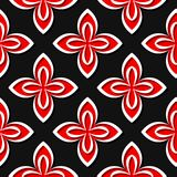Seamless floral pattern. Red and black 3d designs. Vector illustration Stock Illustration