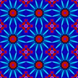Seamless floral pattern red blue violet Royalty Free Stock Photography