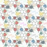 Seamless floral pattern with of red and colorful roses on white background. Vector illustration. vector illustration