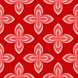 Seamless floral pattern. Red 3d designs. Vector illustration Stock Illustration