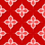 Seamless floral pattern. Red 3d designs. Vector illustration Vector Illustration