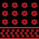 Seamless floral pattern with red flowers background Stock Images