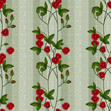 Seamless floral pattern red flowers ornamental texture backgroun Stock Photography