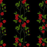 Seamless floral pattern red flowers texture background Royalty Free Stock Photography
