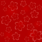 Seamless floral pattern in red hues Stock Images