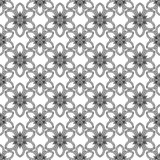 Seamless floral pattern. Regular texture. Black and white. Grafic design Royalty Free Stock Photo