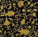 Seamless floral pattern in renaissance style. Hand drawn Stock Photos