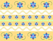 Seamless floral pattern in retro style Royalty Free Stock Images