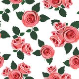 Wallpaper retro rose Stock Image