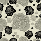 Seamless floral pattern with roses. (From my big Seamless collection Royalty Free Stock Image