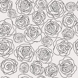 Seamless floral pattern with roses Royalty Free Stock Photography