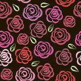 Seamless floral pattern with roses. Royalty Free Stock Photography