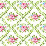 Seamless floral pattern with roses Stock Image