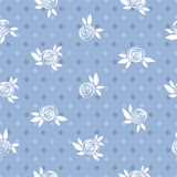 Seamless floral pattern, roses and circles, vintage. Royalty Free Stock Images