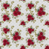 Seamless floral pattern with roses Stock Photos