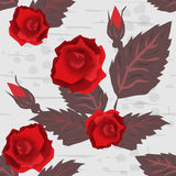 Seamless floral pattern with roses Royalty Free Stock Image