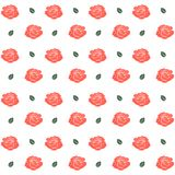 Seamless pattern with roses. Vector illustration Royalty Free Stock Image