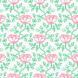Seamless floral pattern with roses Stock Images