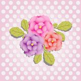 Seamless floral pattern with roses, watercolor. Vector illustration. Seamless floral pattern with roses. Good for backgrounds, wallpapers, print on t-shirts Stock Images