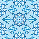 Seamless floral pattern Russian Gzhel Royalty Free Stock Photography