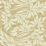 Seamless floral pattern with sand colored flowers Royalty Free Stock Image