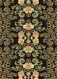 Seamless laced floral pattern Royalty Free Stock Images