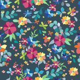 Seamless floral pattern. Spring or summer decoration for beautiful design Stock Photos
