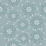 Seamless floral pattern and seamless pattern in sw Royalty Free Stock Photo