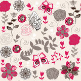 Seamless vector floral pattern and seamless patter Stock Photos