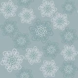 Seamless floral pattern and seamless pattern in sw Royalty Free Stock Photography