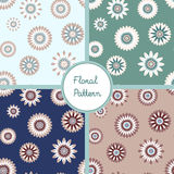 Seamless floral pattern set Stock Image