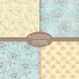 Seamless Floral Pattern Royalty Free Stock Photos