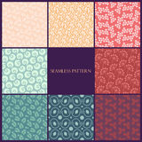Seamless floral pattern set Stock Images