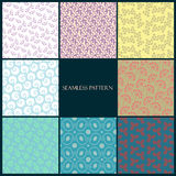 Seamless floral pattern set Stock Photo