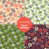 Seamless floral pattern set Royalty Free Stock Images
