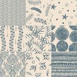 Seamless floral pattern set Stock Photos