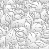 Seamless floral pattern with shadow Stock Photos