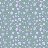 Seamless floral pattern with small flowers. Seamless floral pattern with small blue flowers Royalty Free Stock Photo