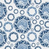Seamless floral pattern snowflake Stock Images