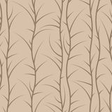 Seamless floral pattern of spiny branches Stock Image